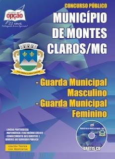 Apostila Concurso Guarda Municipal de Montes Claros (MG) 2015.