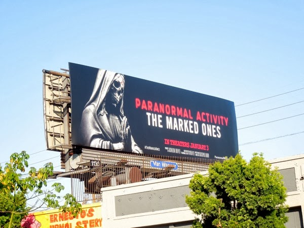 Paranormal Activity Marked Ones movie billboard