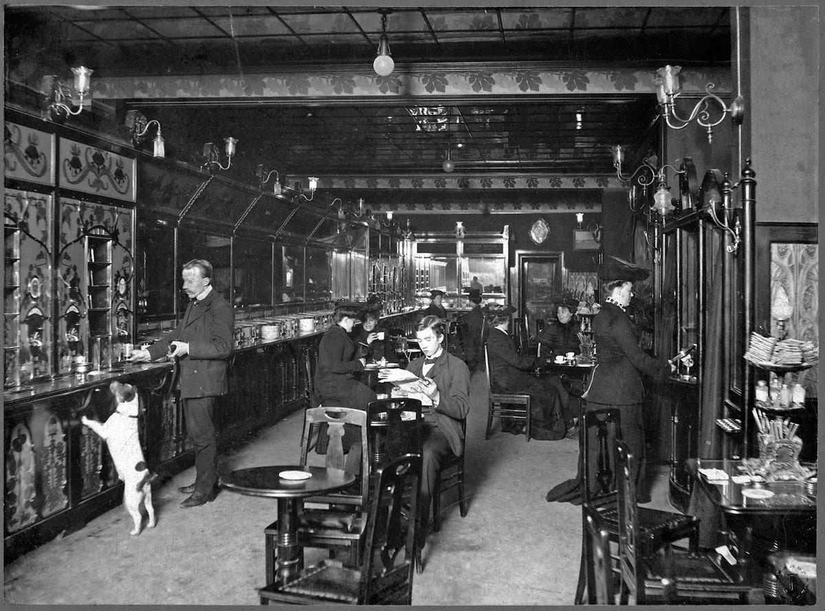 """""""Роботизированный"""" ресторан в Стокгольме. 1905 год."""