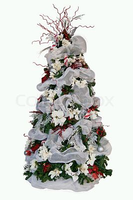 arboles de navidad color blanco parte