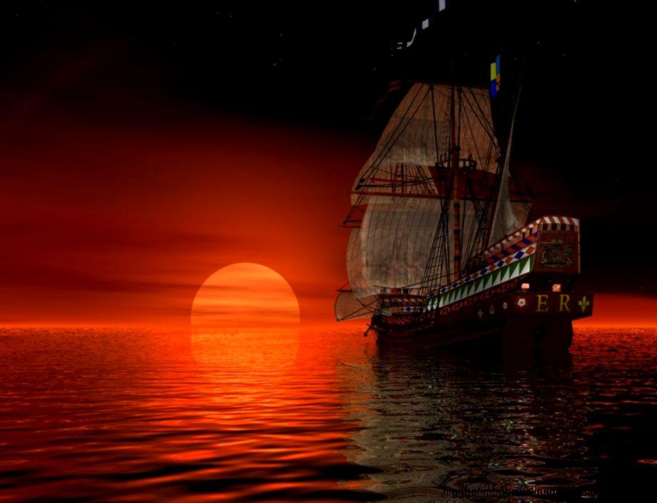 Boat Sunset Evening Beach Wallpaper Hd