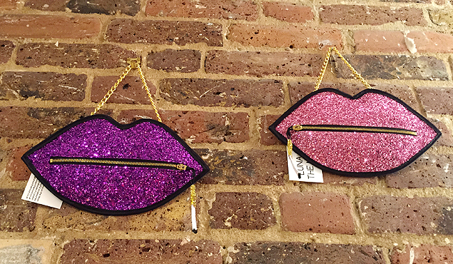Luna on the moon, glitter lip bag, showrooms shoreditch