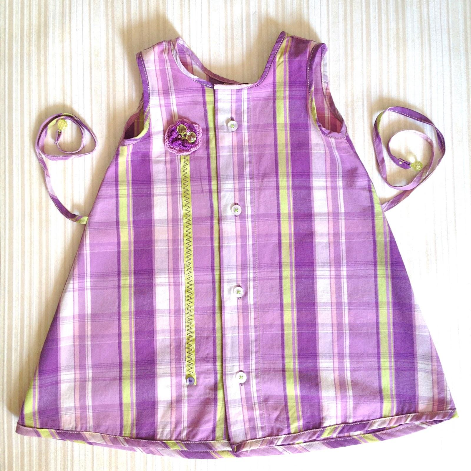 Детское платье из мужской рубашки 16