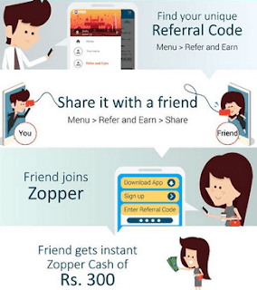 zopper refer and earn free wallet balance