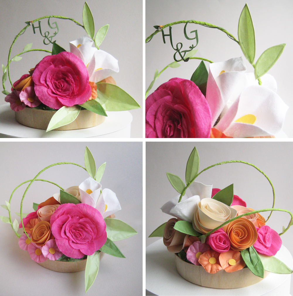Concarta Paper Sculpture Cake Toppers For Weddings Anniversaries