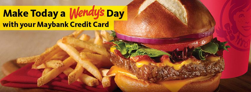 Maybank Credit Card Promo, Wendy's treat, credit card promo Philippines