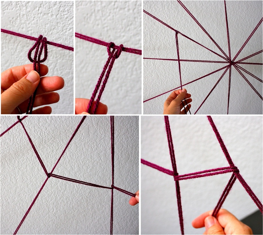 Giant yarn spider web made everyday Build easy website