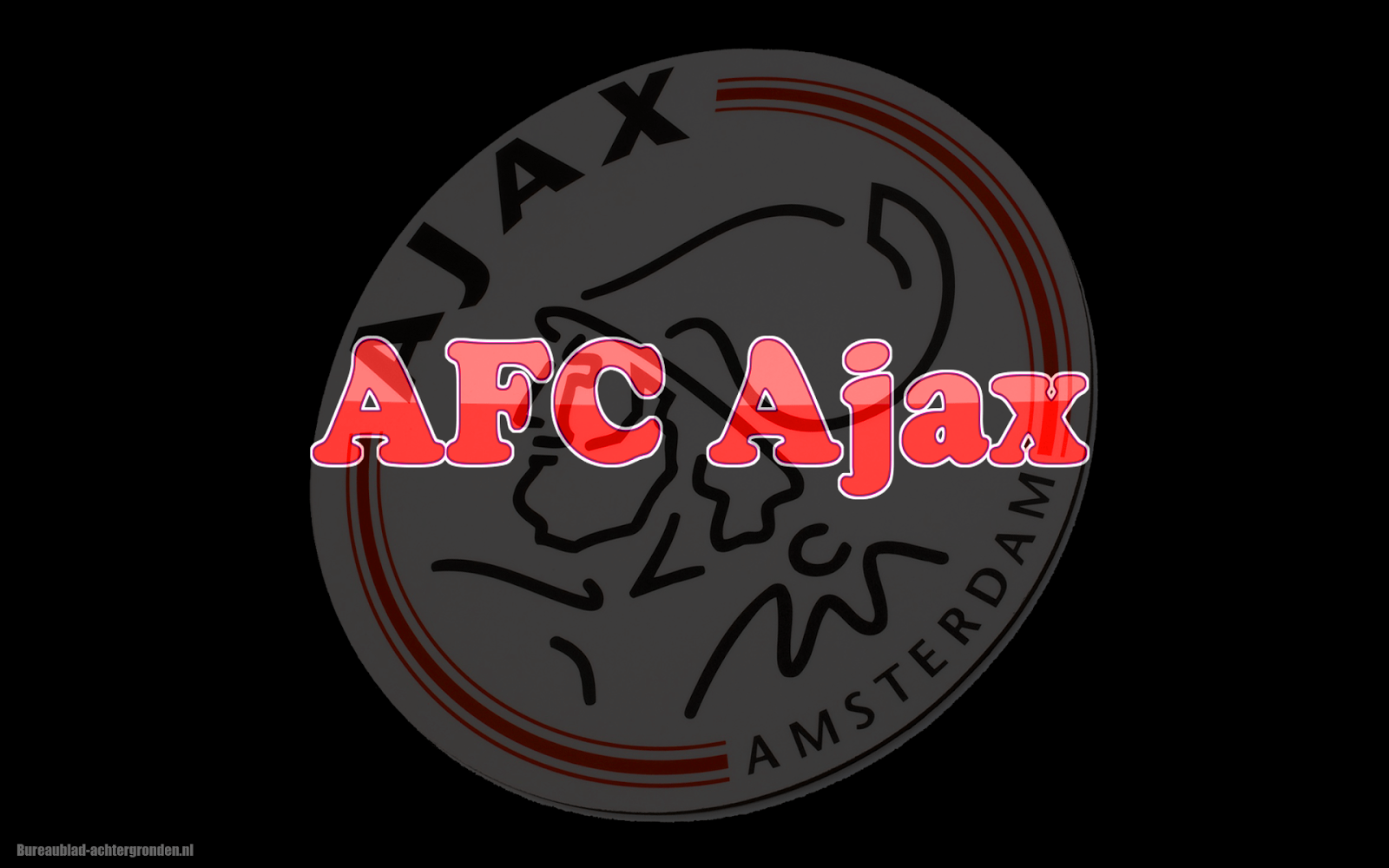 Mooie Ajax achtergrond met rode letters