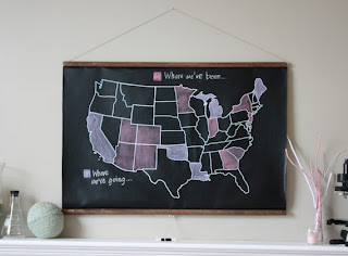 Chalkboard U.S. Map by shopdirtsa on Etsy