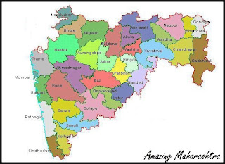 Map of Maharashtra State India