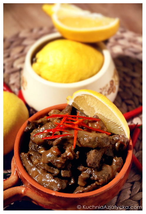 Wołowina w sosie sezamowym  © KuchniaAzjatycka.com