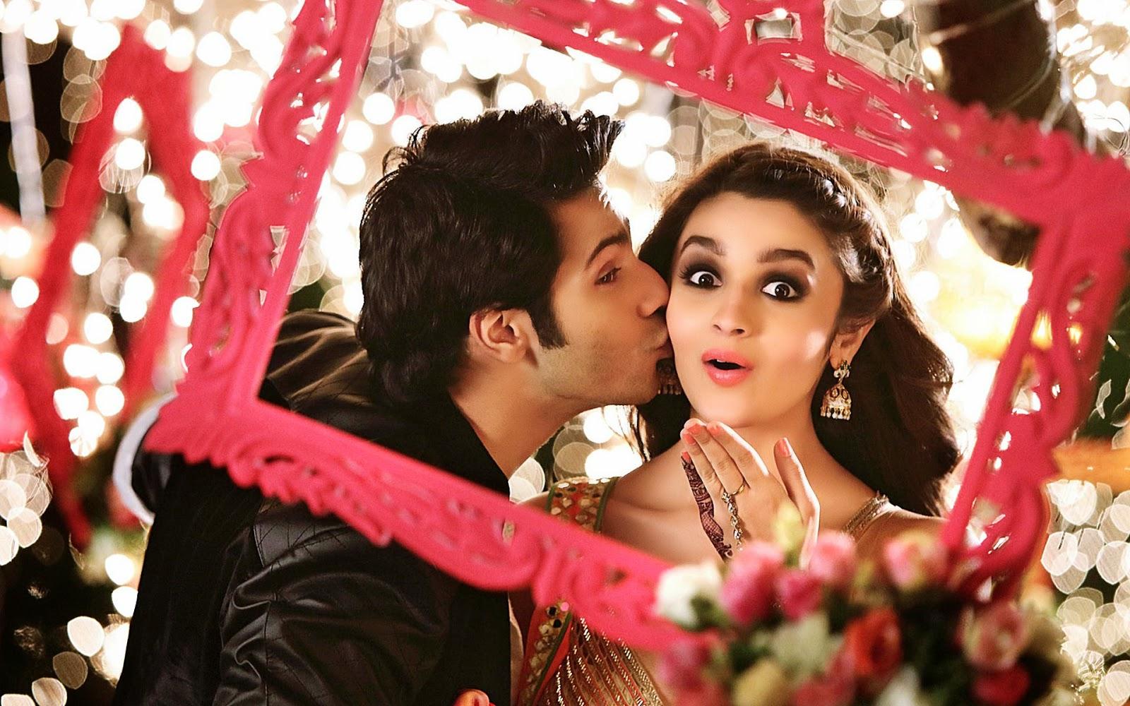 Alia Bhatt and Varun Dhawan - Kiss