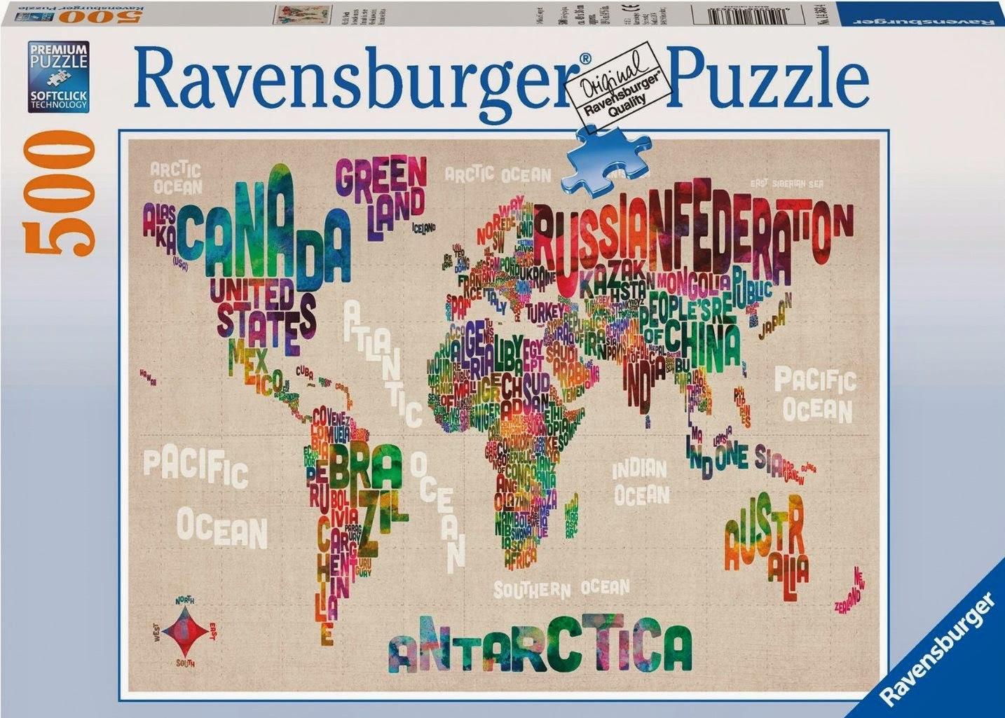 World in Words World Map Jigsaw Puzzle