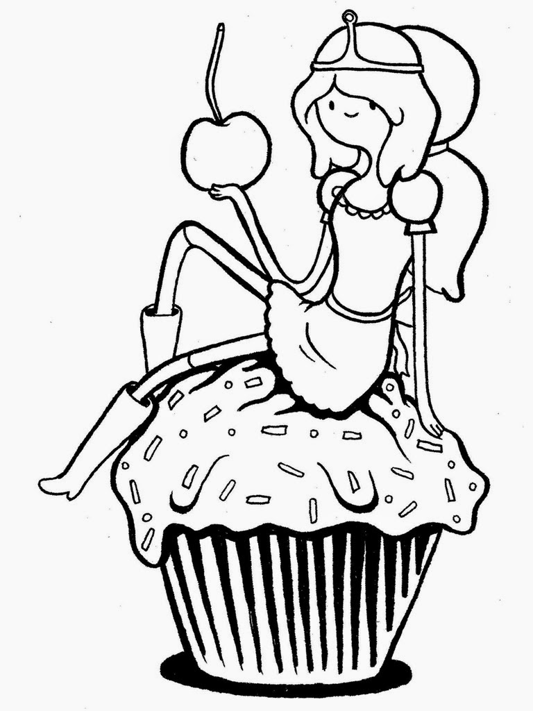 Free coloring pages adventure time - Adventure Time Fionna And Cake Coloring Pages
