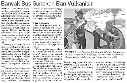 Banyak Bus Gunakan Ban Vulkanisir