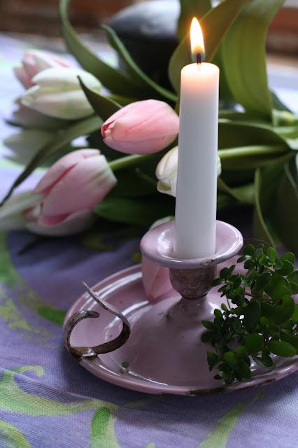 Kammarstake i rosa emalj