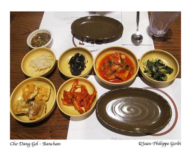 Image of Banchan at Cho Dang Gol Korean restaurant in NYC, New York