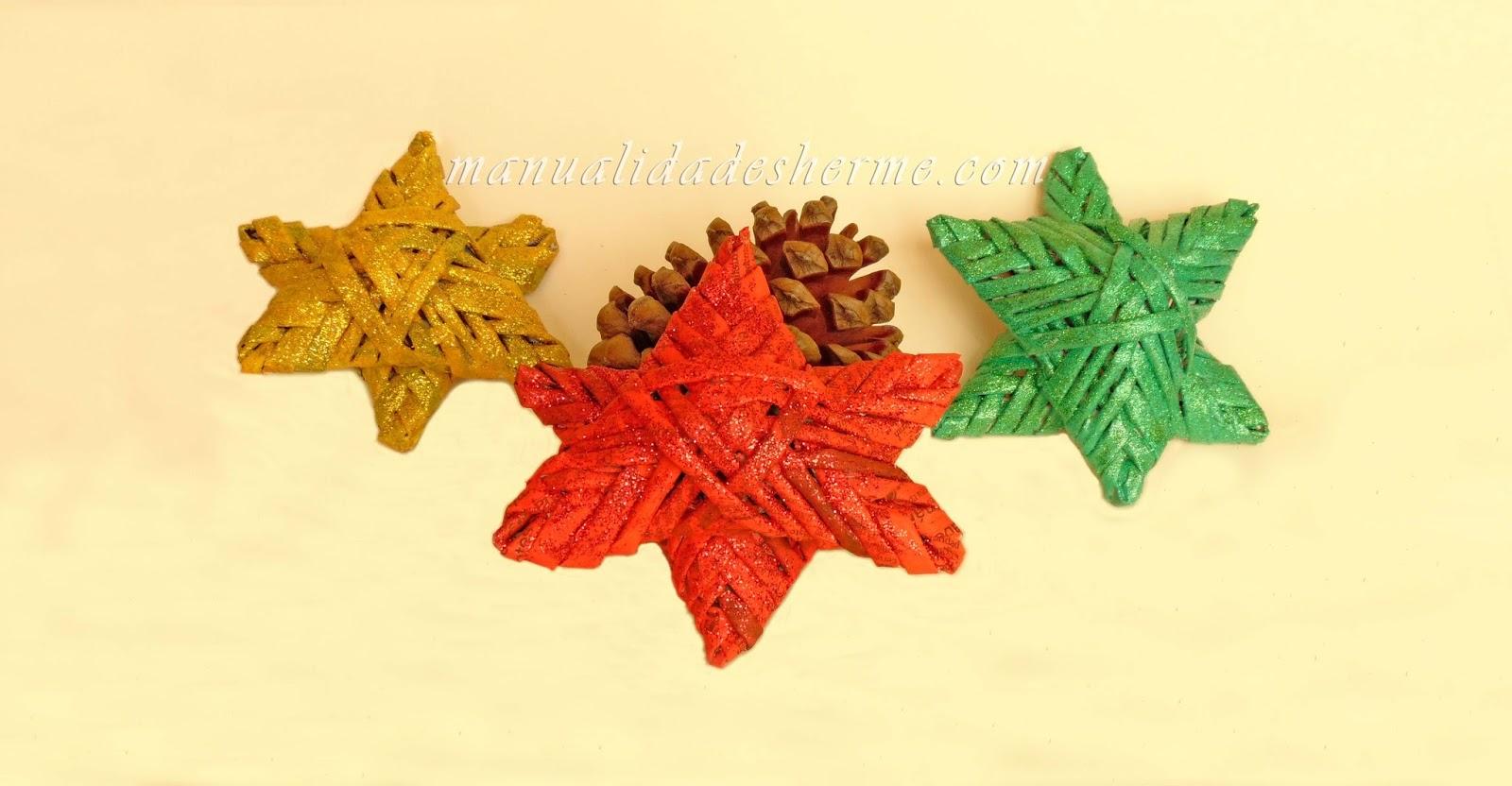 Manualidades herme como hacer estrellas de navidad con - Estrellas de papel para navidad ...