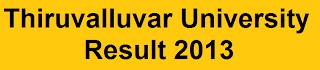 Thiruvalluvar University Result 2013