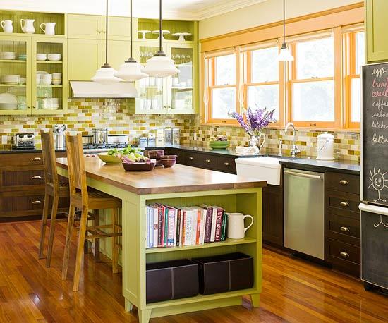 Modern furniture green kitchen design new ideas 2012 Modern green kitchen ideas