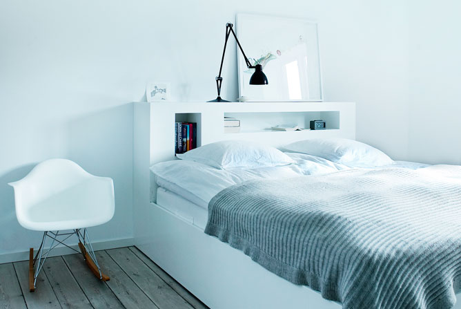 Nordic blends: nordic inspiration: bed met achterwand