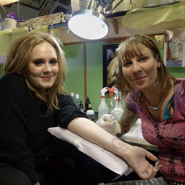 Adele's Tattoo ♥ ♥