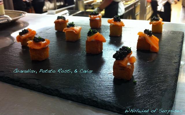 Gravadlax, Potato Rosti, Caviar