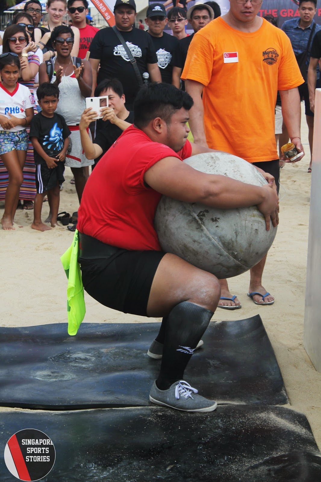 Zarol Nizam Alifiyan came to Singapore to compete in the HomeTeamNS Strongman Challenge 2014