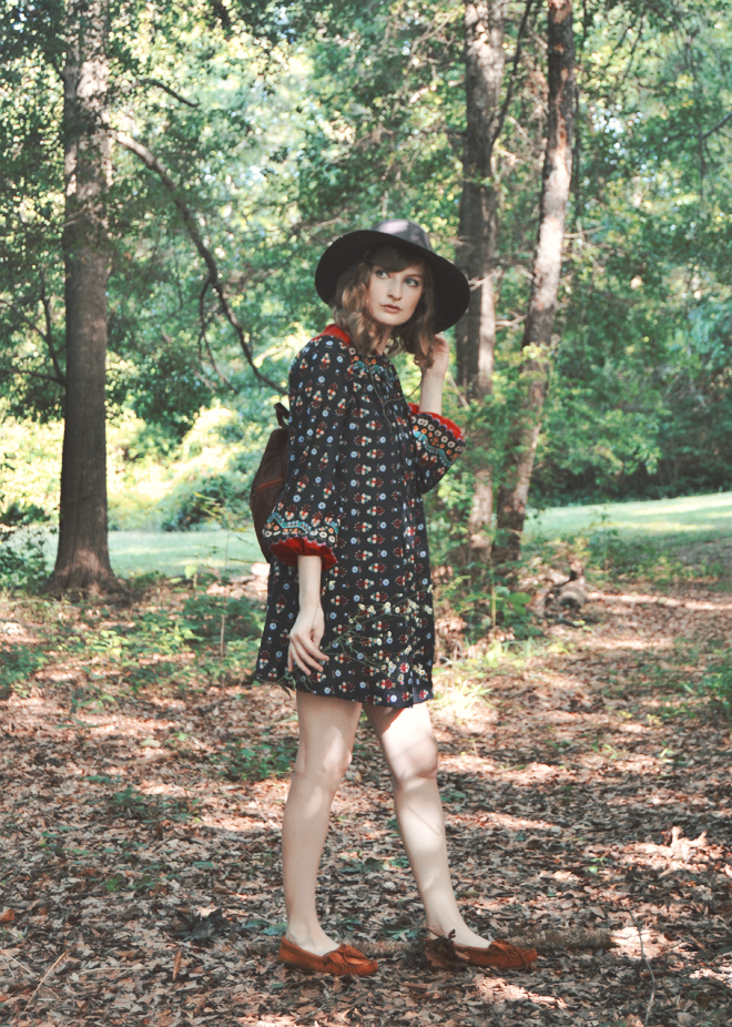 The Flying Clubhouse: The Woods at the Edge of the Meadow // vintage 70s outfit