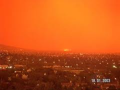 Bush fires near Canberra 2003