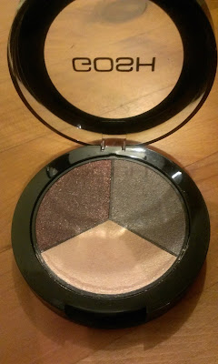 GOSH eyeshadow trio TR15 Sense lid up