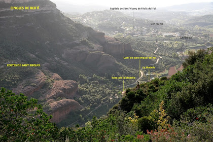 La Vall del Tenes o de Sant Miquel vista des de la zona de la Miranda