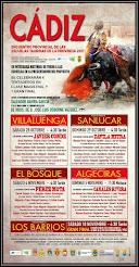Carteles del IV Encuentro Provincial de Escuelas Taurinas de Cádiz