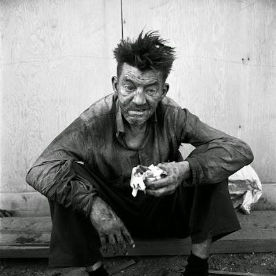 Sans-abri photographié par Vivian Maier (acquis par l'acteur Tim Roth)