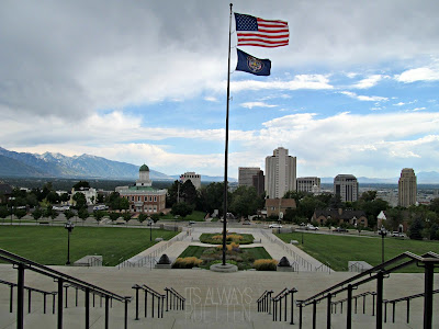 View of Salt Lake City from the Utah State Capitol from It's Always Ruetten