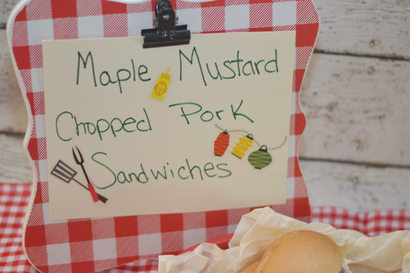 New Heinz® Yellow Mustard, Maple Mustard Chopped Pork Sandwich #Recipe, Mustard in recipes, mustard for grilling, Heinz Mustard and Ketchup