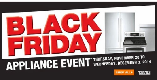 Home Depot Black Friday Appliance Event