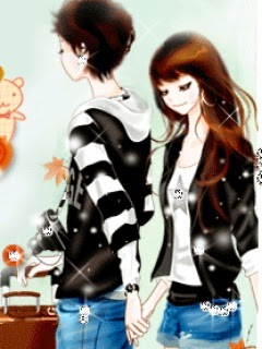 Gambar Animasi Korea I Love You Anime Cinta Sejati Couple  Animasi Korea Meme Lucu Emo Bergerak