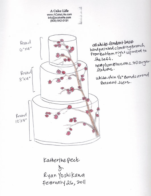 A Cake Life From Sketch To Display Cherry Blossom Cake Part 2