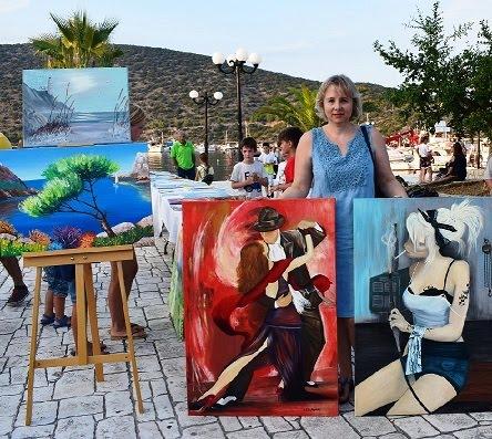 """Έκθεση ζωγραφικής από το καλλιτεχνικό εργαστήρι """"ENERGY ART""""  στην Ερμιόνη"""