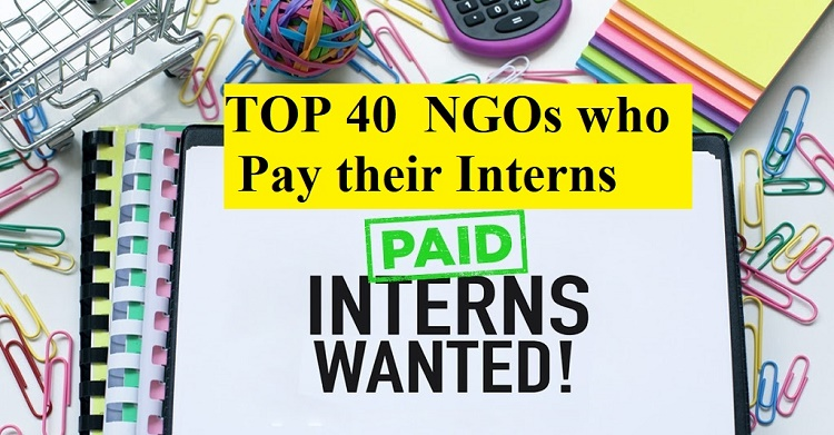 TOP 40 NGOs who Pay their Interns