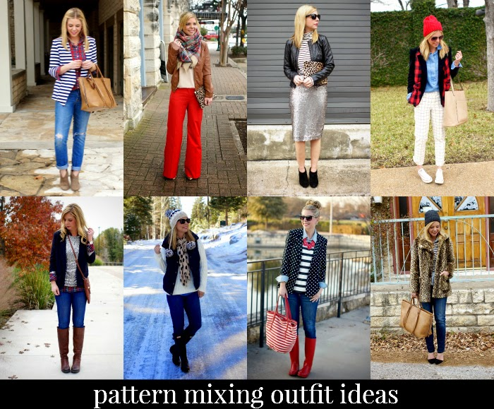 pattern mixing outfit ideas