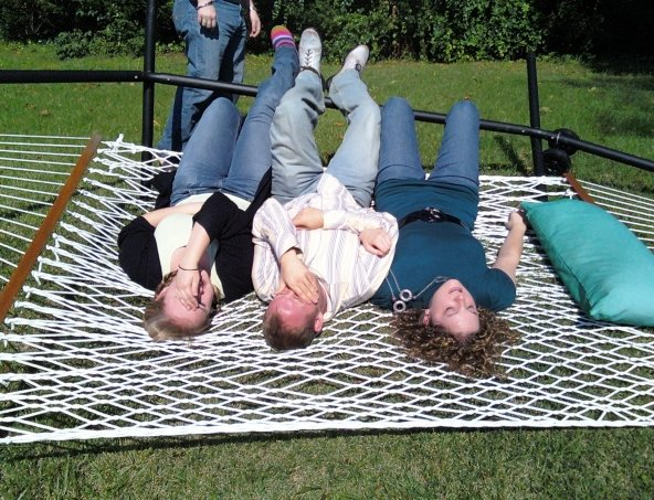 Medium image of clearly three people on a hammock didn u0027t work out so well
