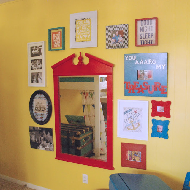 Kids Room Mirror on Gallery Wall