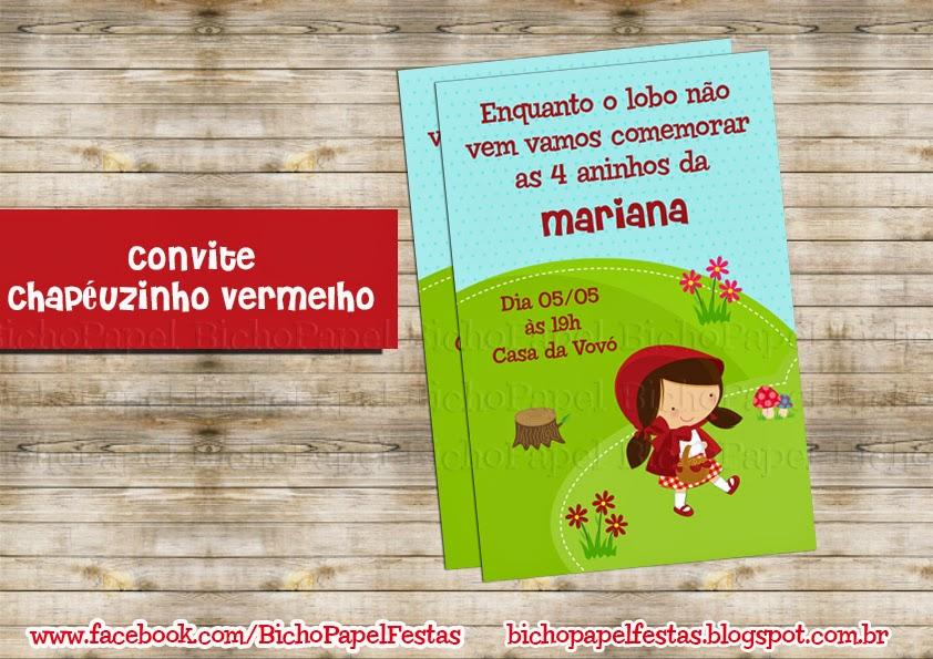Kit Chapeuzinho Vermelho