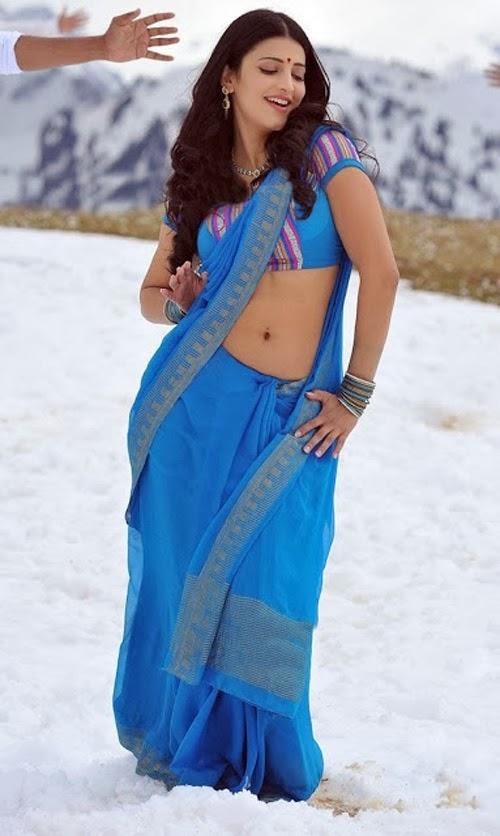 Shruti+Haasan+Saree+Below+Navel+Show+Photo004