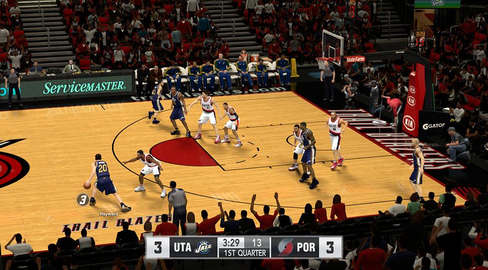 NBA 2K14 Blazers Comcast Scoreboard Mod