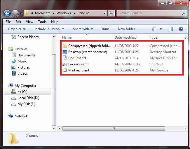 Menambahkan Opsi Baru pada Menu Send To di Windows Explorer