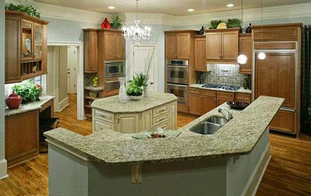 3300 9 or 1401695901 تصميم وديكور مطبخ بمساحة كبيرة بالصور