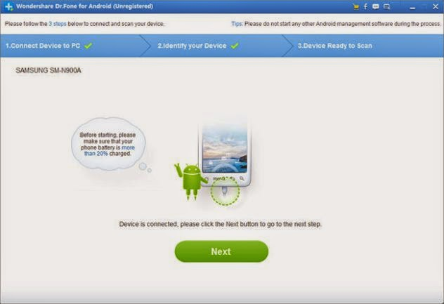Wondershare Dr.Fone for Android V4.8 full version